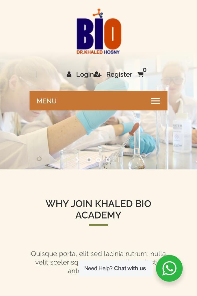 Khaled Bio Academy | WEB Bakeries